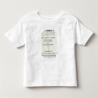 ジャコモ著夫人のためのButterfly Playbill トドラーTシャツ