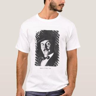 ジャコモ・プッチーニ(1858-1924年) 1924年(photolitho) (b/w tシャツ