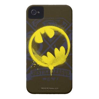 ジャスティス・リーグに付くこうもりの記号 Case-Mate iPhone 4 ケース
