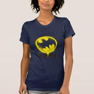 ジャスティス・リーグに付くこうもりの記号 Tシャツ