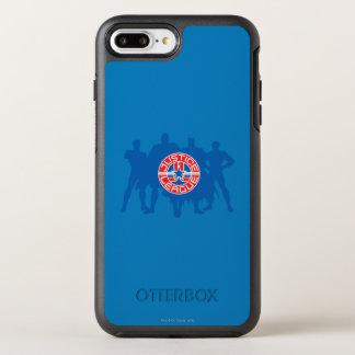 ジャスティス・リーグのロゴおよび固体キャラクターの背景 オッターボックスシンメトリーiPhone 8 PLUS/7 PLUSケース