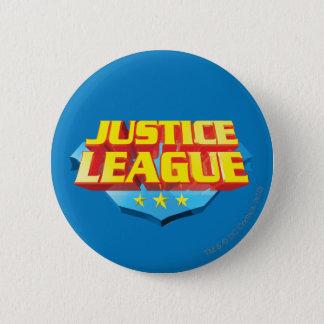 ジャスティス・リーグの名前および盾のロゴ 5.7CM 丸型バッジ