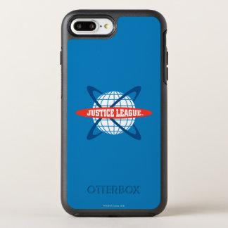 ジャスティス・リーグの地球のロゴ オッターボックスシンメトリーiPhone 8 PLUS/7 PLUSケース