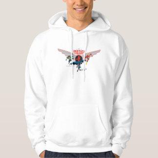 ジャスティス・リーグの飛んでいるな空気バッジおよび英雄 パーカ