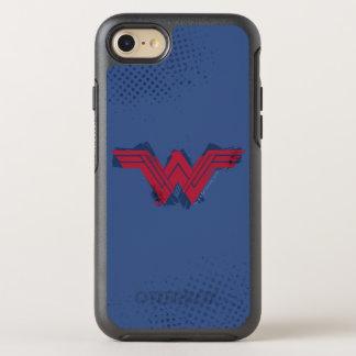 ジャスティス・リーグの|ブラシをかけられたワンダーウーマンの記号 オッターボックスシンメトリーiPhone 8/7 ケース