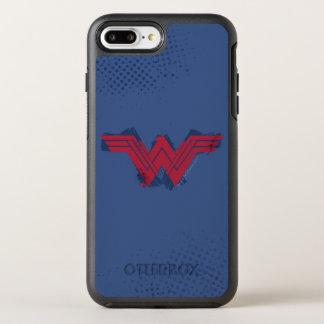 ジャスティス・リーグの|ブラシをかけられたワンダーウーマンの記号 オッターボックスシンメトリーiPhone 8 PLUS/7 PLUSケース