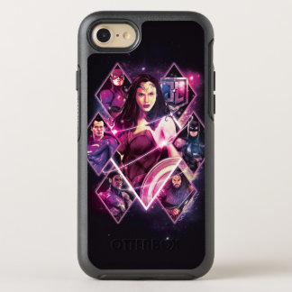 ジャスティス・リーグ|のダイヤモンドの銀河のグループのパネル オッターボックスシンメトリーiPhone 8/7 ケース