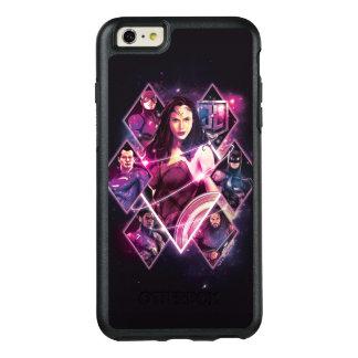 ジャスティス・リーグ|のダイヤモンドの銀河のグループのパネル オッターボックスiPhone 6/6S PLUSケース