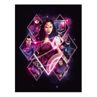 ジャスティス・リーグ|のダイヤモンドの銀河のグループのパネル ポストカード