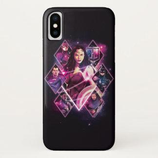 ジャスティス・リーグ|のダイヤモンドの銀河のグループのパネル iPhone X ケース