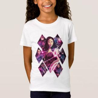 ジャスティス・リーグ|のダイヤモンドの銀河のグループのパネル Tシャツ