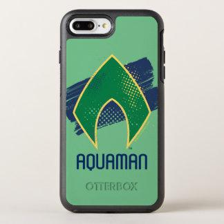 ジャスティス・リーグ|のブラシ及びAquamanのハーフトーンの記号 オッターボックスシンメトリーiPhone 8 Plus/7 Plusケース