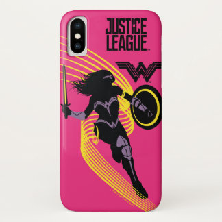 ジャスティス・リーグ|のワンダーウーマンのシルエットアイコン iPhone X ケース