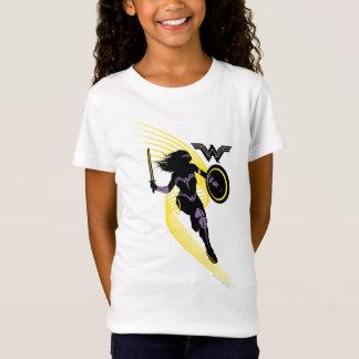 ジャスティス・リーグ|のワンダーウーマンのシルエットアイコン Tシャツ