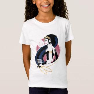 ジャスティス・リーグ|のワンダーウーマンのプロフィールのポップアート Tシャツ