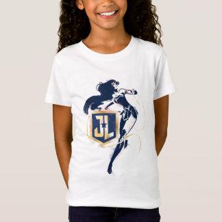 ジャスティス・リーグ|のワンダーウーマン及びJLアイコンポップアート Tシャツ