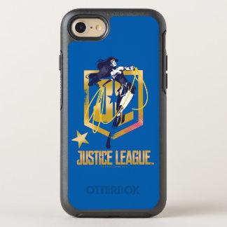 ジャスティス・リーグ|のワンダーウーマンJLのロゴのポップアート オッターボックスシンメトリーiPhone 8/7 ケース