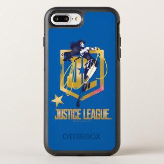 ジャスティス・リーグ|のワンダーウーマンJLのロゴのポップアート オッターボックスシンメトリーiPhone 8 PLUS/7 PLUSケース