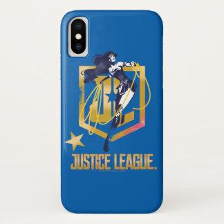 ジャスティス・リーグ|のワンダーウーマンJLのロゴのポップアート iPhone X ケース