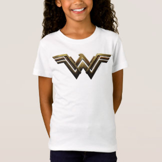 ジャスティス・リーグ|の金属ワンダーウーマンの記号 Tシャツ