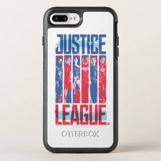 ジャスティス・リーグ|の青及び赤いグループのポップアート オッターボックスシンメトリーiPhone 8 PLUS/7 PLUSケース