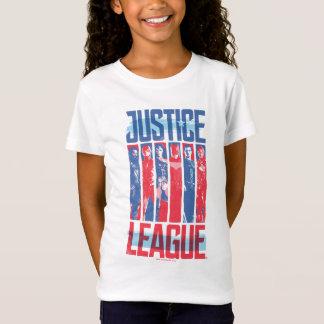 ジャスティス・リーグ|の青及び赤いグループのポップアート Tシャツ