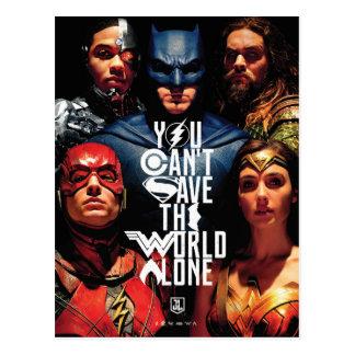 ジャスティス・リーグ|単独で世界を救うことができません ポストカード