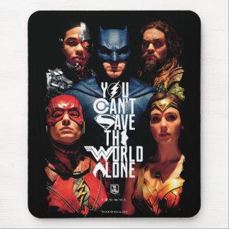 ジャスティス・リーグ|単独で世界を救うことができません マウスパッド