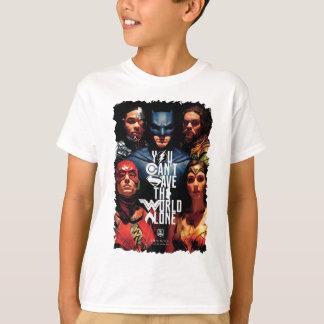 ジャスティス・リーグ|単独で世界を救うことができません Tシャツ