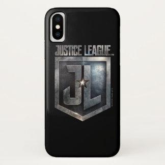 ジャスティス・リーグ|金属JLの盾 iPhone X ケース