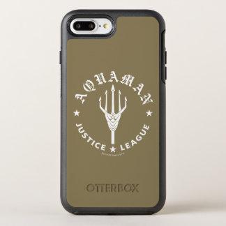 ジャスティス・リーグ| Aquamanのレトロの三叉の矛の紋章 オッターボックスシンメトリーiPhone 8 Plus/7 Plusケース