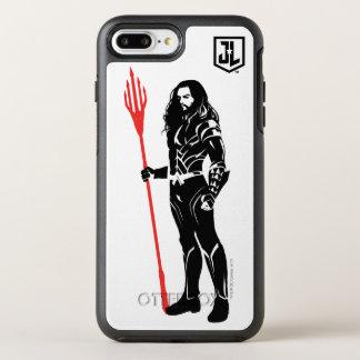 ジャスティス・リーグ| Aquamanの姿勢のNoirポップアート オッターボックスシンメトリーiPhone 8 Plus/7 Plusケース