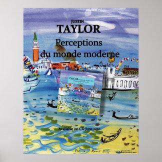 ジャスティンテイラーの認識のdu mondeのモダンなポスター ポスター