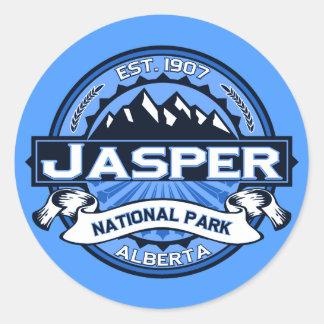 ジャスパー国立公園のロゴ ラウンドシール