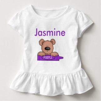 ジャスミンの名前入りなテディ トドラーTシャツ