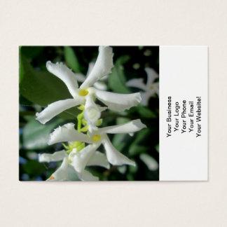 ジャスミンの白い管の花 名刺