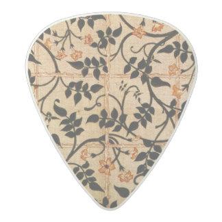 ジャスミンの道のカーテンのデザイン1868-70年(印刷された折畳み式ベッド アセタール ギターピック