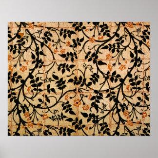 ジャスミンの道のカーテンのデザイン1868-70年(印刷された折畳み式ベッド ポスター