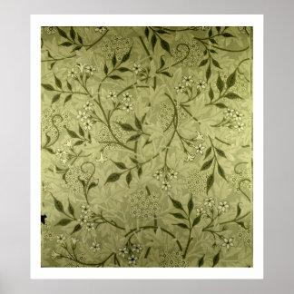 「ジャスミン」の壁紙のデザイン1872年 ポスター