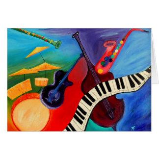 ジャズそれ抽象芸術Greetingcard カード