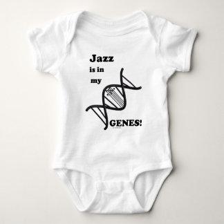 ジャズは私の遺伝子にあります ベビーボディスーツ