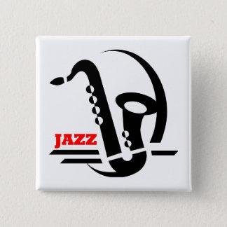 ジャズサクソフォーン 缶バッジ