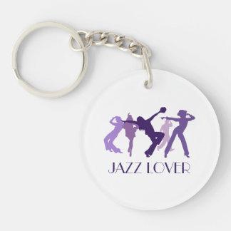 ジャズダンサーの絵 キーホルダー