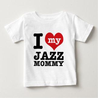 ジャズダンスのお母さんのデザイン ベビーTシャツ