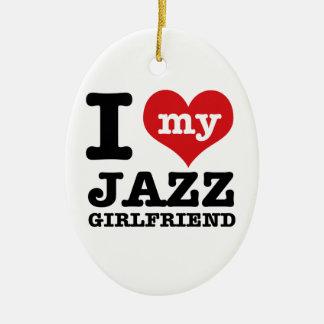 ジャズダンスのガールフレンドのデザイン セラミックオーナメント