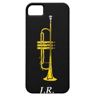 ジャズトランペットはあなたのイニシャルの穹窖Iphone4を加えます iPhone SE/5/5s ケース
