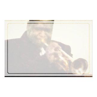 ジャズトランペット奏者 便箋