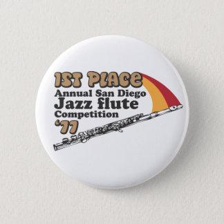 ジャズフルートボタン 缶バッジ