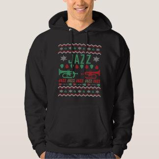 ジャズプレーヤーの醜いクリスマスのセーター パーカ