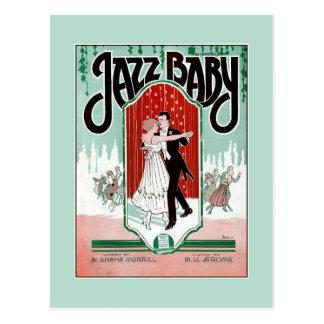 ジャズベビーの20年代ジャズ年齢のヴィンテージの楽譜カバー ポストカード